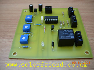 Master control boards for solar hot water system
